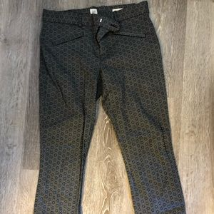 Professional high waisted printed pants